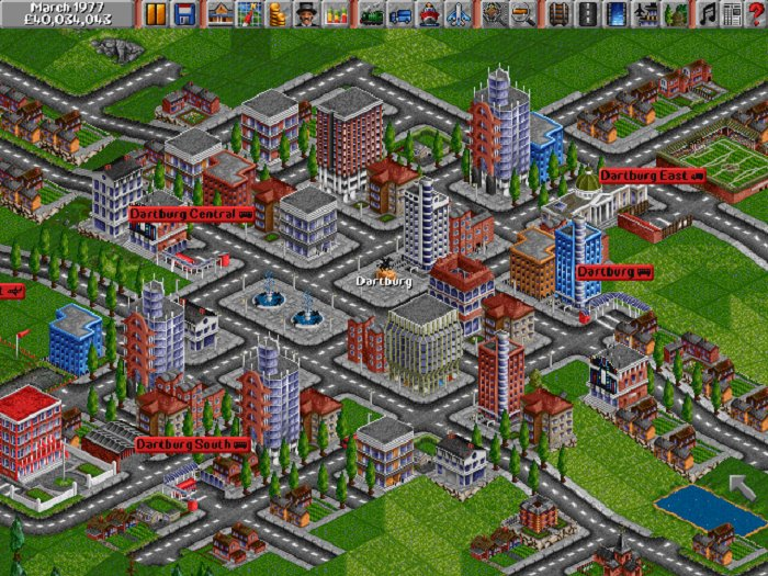 Transport Tycoon  1994 train game